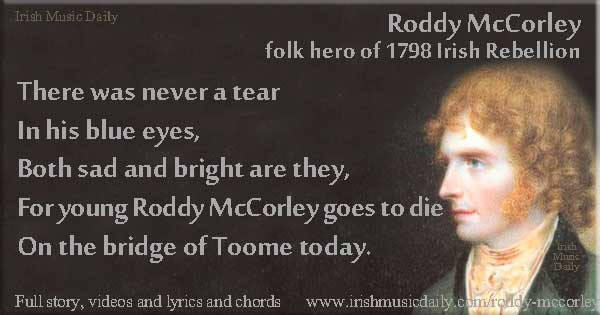 Roddy McCorley graphic copyright Ireland Calling