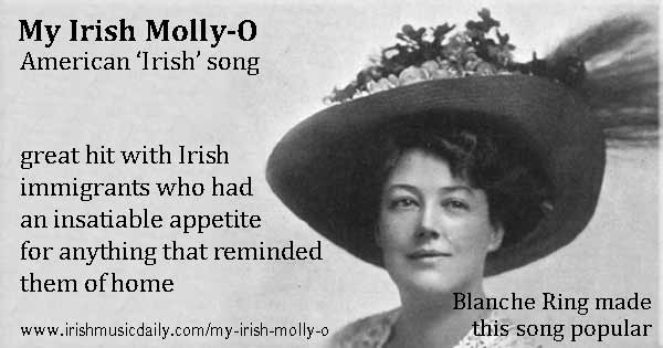 My Irish Molly-O, Irish American song