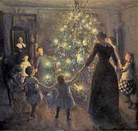 Happy Christmas painted by Johansen Viggo
