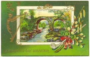 Postcard St Patricks Day Souvinir 1912