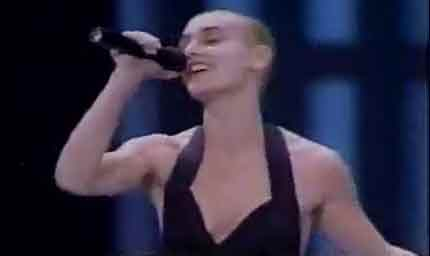 Sinead O'Connor at the 1989 Grammy Awards