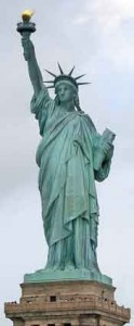 Statue of Liberty - welcome image to immigrants to America
