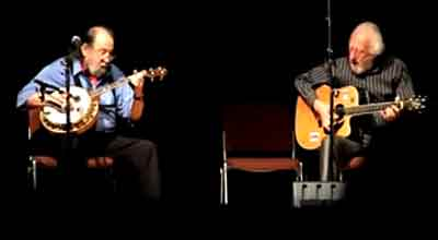 Barney McKenna and Eamonn Campbell of  Irish folk group The Dubliners