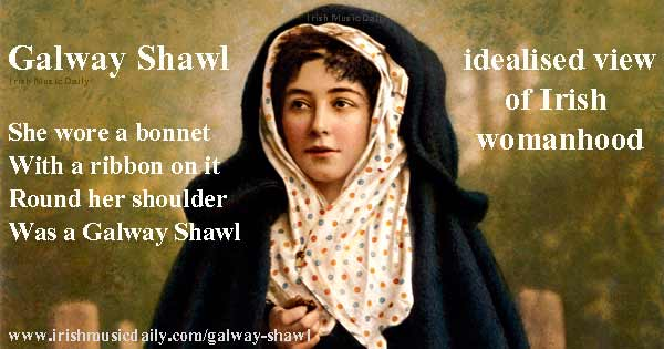 Galway-Shawl_idealised-view-of-Irish-womanhood Image copyright Ireland Calling