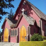 Victorian sanctuary of Calvary Episcopal Church in downtown Santa Cruz