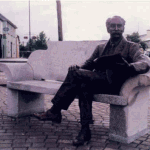 Percy French statue sculpted by Alan Ryan Hall