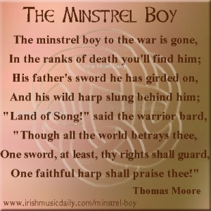 Minstrel-Boy - graphic copyright Ireland Calling