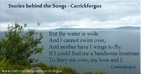 Carrickfergus lyrics and chords | Irish Music Daily