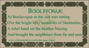 Boolavogue inspired by Father Murphy Image copyright Ireland Calling