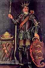 Brian Boru King of Munster, 18th century engraving