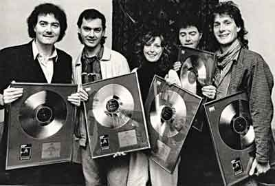 Clannad with some of their awards