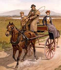 Paddy Reilly (from Irish traditional song Come Back Paddy Reilly) was a jarvie in a Irish jaunting car
