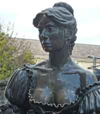 Molly Malone statue in Dublin is a great tourist attraction for visitors from all over the world