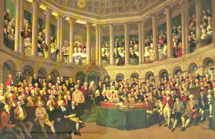 The Irish House of Commons 1780 by Francis Wheatley
