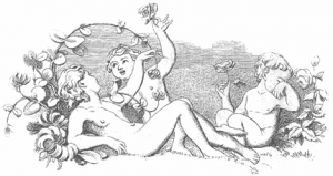 This Life Is All Checkered With Pleasures And Woes illustration from Moore's Irish Melodies 1846 Edition