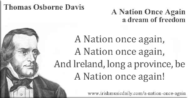 A Nation Once Again (hymne national irlandais) W-10_14_1814_Thomas-Osborne-Davis-14-October-in-1814-born-Nation-once-again-600