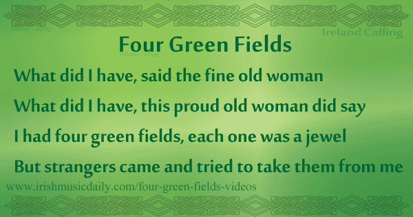 Four Green Fields lyrics and chords | Irish Music Daily