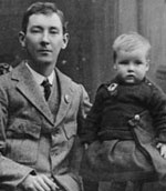 Peadar Kearney, Irish patriot, with his son in 1917
