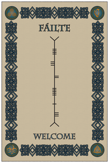 Ogham welcome