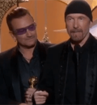 U2 at the Golden Globes