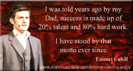 Emmet Cahill. Image Copyright - Irish Music Daily