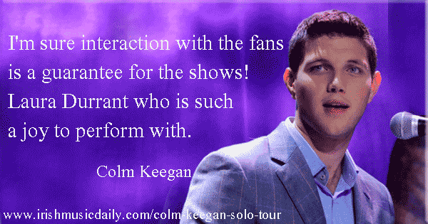 Colm Keegan talks about his solo tour. Image Copyright - Irish Music Daily