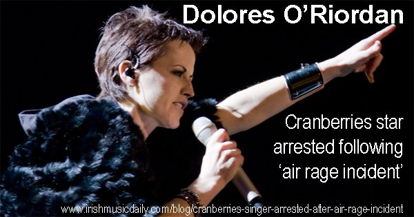 Dolores O'Riordan arrested following alleged air rage incident. Photo copyright Alterna2 cc2