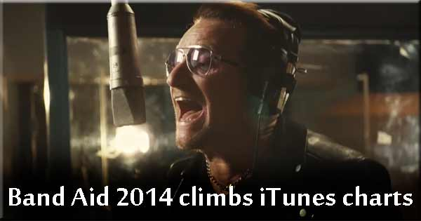 Band Aid 2014 climbs the iTunes charts