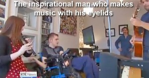 Cillian McSweeney uses software to play music with his eyes