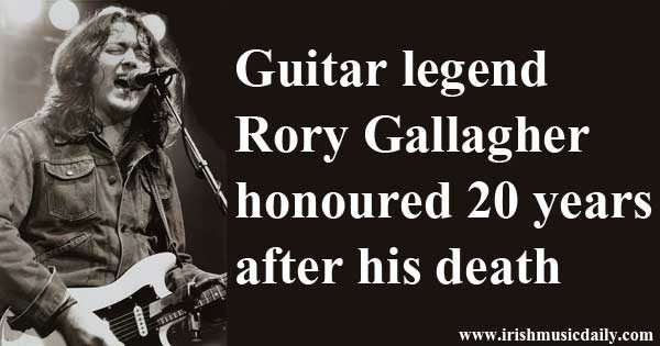 Rory Gallagher honoured in Cork. Photo Copyright - Leahtwosaints CC2
