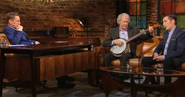 Finbar Furey and Christy Dignam perform together