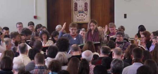 Sacred Harp singers at Cork convention